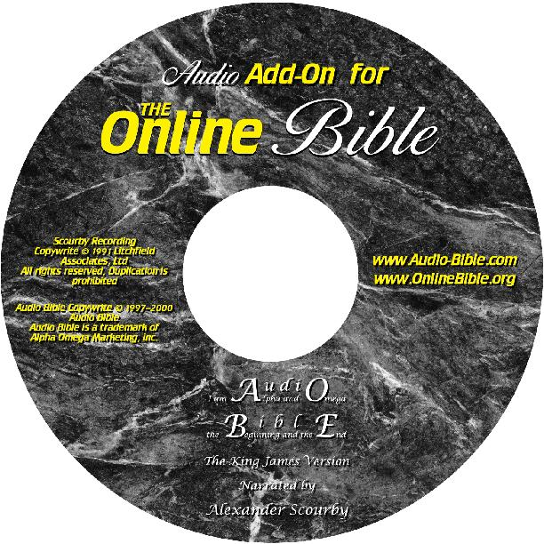 Online Bible Audio add-on CD-ROM